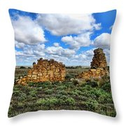 Someone Once Lived There Throw Pillow