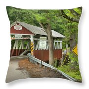 Somerset Backroad Crossing Throw Pillow