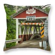 Somerset County Burkholder Covered Bridge Throw Pillow