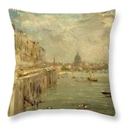 Somerset House Terrace From Waterloo Bridge Throw Pillow by John Constable