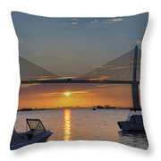 Something About A Sunrise Triptych 2 Throw Pillow
