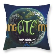 Something Ate My Alien #1 Throw Pillow
