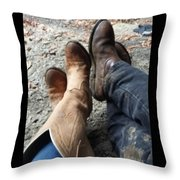 Something 'bout That Southern Boy Charm Throw Pillow
