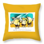 Something Clicked. Throw Pillow