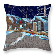 Something In The Night Throw Pillow