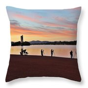 Something Is Happening Throw Pillow