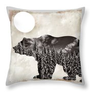 Something Wild Bear Throw Pillow