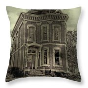 Something's Happening Here Throw Pillow