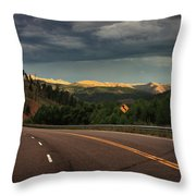 Sometime Life Throws You Curves, Enjoy The Ride Throw Pillow