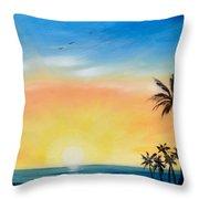Sometimes I Wonder - Vertical Sunset Throw Pillow