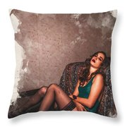 Sometimes In Life You Have To Roll With The Punches. Throw Pillow