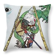 Sometimes The Dragon Wins Throw Pillow