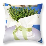 Somewhere In Greece Throw Pillow