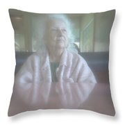 Somewhere In The Mist Throw Pillow