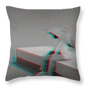 Somewhere It's Raining - Use Red-cyan 3d Glasses Throw Pillow
