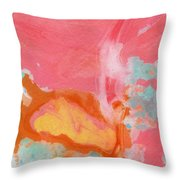 Somewhere New 2- Abstract Art By Linda Woods Throw Pillow