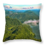 Over Alaska - June  Throw Pillow
