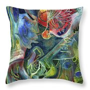 Song Of Borrowed Time Throw Pillow