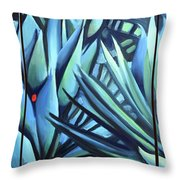 Song Of Dark Leaves Throw Pillow