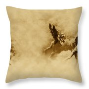 Song Of The Angels In Sepia Throw Pillow