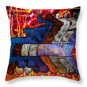 Song Of The Elephants Throw Pillow by Kyle Willis