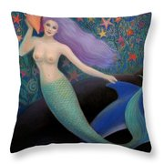 Song Of The Sea Mermaid Throw Pillow