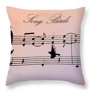 Songbirds With Border Throw Pillow