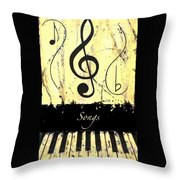 Songs - Yellow Throw Pillow