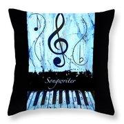 Songwriter - Blue Throw Pillow