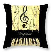 Songwriter - Yellow Throw Pillow