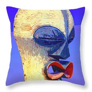 Songye Kifwebe Mask Throw Pillow