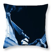 Sonic Blue Guitar Explosions Throw Pillow