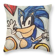 Sonic The Hedgehog Throw Pillow