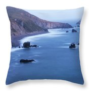 Sonoma Coastline After Dark Throw Pillow by Jim Thompson