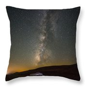 Sonora The Vw Bus Under The Milky Way Throw Pillow