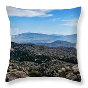 Sonoran Cliff Lookout Throw Pillow