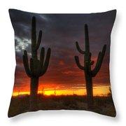 Sonoran Desert Sunrise 1 Throw Pillow
