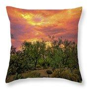 Sonoran Desert Sunset Op46 Throw Pillow