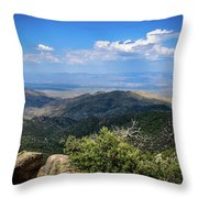 Sonoran Hillside Lookout Throw Pillow