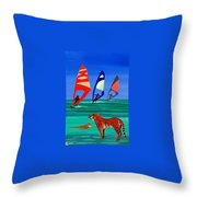 Tigers Sons Of The Sun Throw Pillow