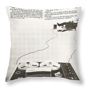 Sony Vintage Advert Throw Pillow