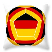 Soocer Ball With Germany Flag Throw Pillow