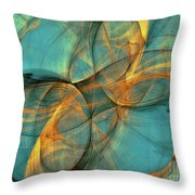 Soothing Blue Throw Pillow