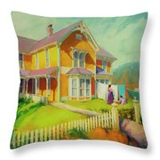 Sophie And Rose Throw Pillow by Steve Henderson