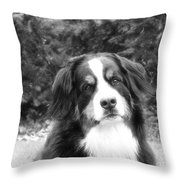 Sophie - In Infrared Black And White Throw Pillow