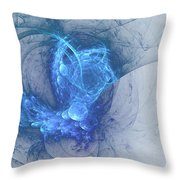 Sorching Blue Heaven Throw Pillow
