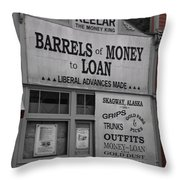 Store Front Skagway Throw Pillow