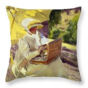 Sorolla: Painter, 1907 Throw Pillow