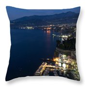 Sorrento Bay At Night Throw Pillow