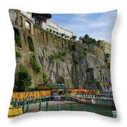 Sorrento Beach Throw Pillow